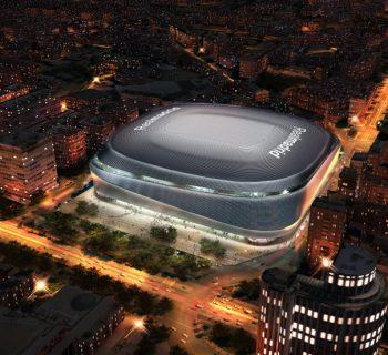 Nuevo Santiago Bernabéu de noche