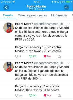 Tuit de @pedritonumeros de Enero 2019
